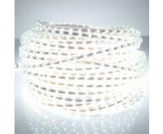 Eclairage LED Guirlande/Décoration LED Bande lumineuse imperméable de LED de boîtier, longueur: 10m, imperméable à l eau IP65 SMD 5730 LED avec la prise d alimentation, 120 LED / m, CA 220V (lumière blanche) - Luminaires extérieur