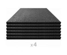vidaXL 24x Carreaux de Protection Antichoc Caoutchouc Noir Tapis de Sol - Matériel de construction sol