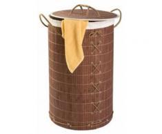 Wenko coffre a linge bamboo+sac h60*fonce*s - Soin du linge