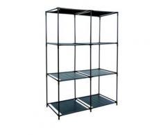 etagere meuble de rangement 6 casiers pour vêtement 13 kgs portable armoire - Rangement de l'atelier