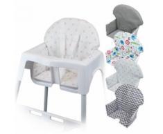 Housse d'assise pour chaise haute bébé enfant gamme Délice - Pois roses - Chaises hautes et réhausseurs