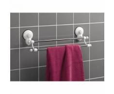 porte-serviette ventouses 2 barres metal l50cm - Accessoires salles de bain et WC