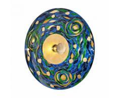 Applique murale design LUNA Or 24 Carats 1 ampoule Diamètre 89 Cm Bleu Aqua - Appliques et spots