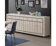 Enfilade 225 cm couleur bois naturel EUPHORIA - Buffets