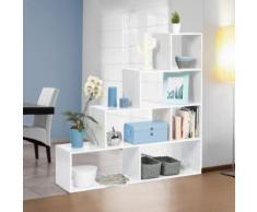 Bibliothèque escalier Lina bois blanc - Bibliothèques