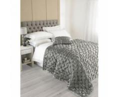 Riva Home Limoges - Couvre-lit (265 x 265 cm) (Gris) - UTRV569 - Linge de lit