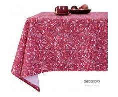 Deconovo Nappe Designer Series Rectangulaire à Motifs en Tissu Oxford Semi Imperméable Nappe Salle à Manger Rectangle 130x280cm Fuchsia Nappe de Table - Linge de table