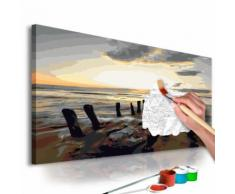 60x40 Tableau à peindre par soi-même Kits de peinture pour adultes Contemporain même - Décoration murale