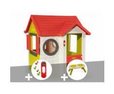 Cabane enfant My House - Smoby + Sonnette + Banc - Maisons de jardin