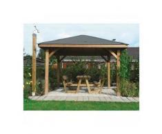 Solid Abri de Jardin Maisonnette Chalet de Jardin Kiosk 437x437 - Maisons de jardin