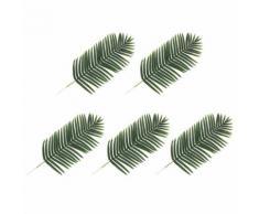 2 pcs Feuilles artificielles de palmier Vert 140 cm - Plantes artificielles