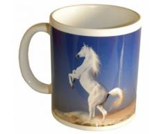 Tasse en céramique Cheval blanc Cbkreation - Tasse et Mugs