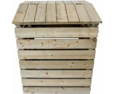 Composteur en bois avec couvercle, 480 L - Composteurs et poubelles de jardin