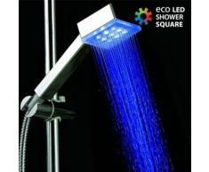 Pommeau de douche carrée avec LEDS intégrées lumineux - Accessoires salles de bain et WC