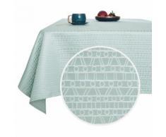 Deconovo Nappe Salle à Manger Rectangle Imperméable à Motif Bleu Clair 132x229 cm Nappe Salon de Jardin Nappe Table Extérieur - Linge de table