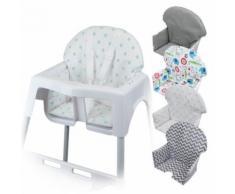 Housse d'assise pour chaise haute bébé enfant gamme Délice - Pois bleus - Chaises hautes et réhausseurs