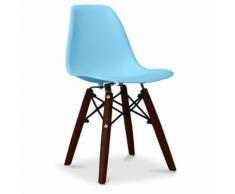 Chaise enfant dsw pieds foncés charles eames bleu clair - Chaise
