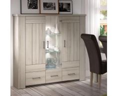 Vaisselier 140 cm couleur bois clair OPALINE - Vaisseliers