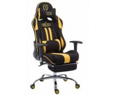 Fauteuil de Bureau / Chaise Gaming Limit en Tissu avec Repose-pieds téléscopique - Couleur Noir/Jaune - Sièges et fauteuils de bureau