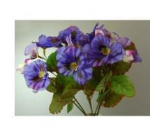 Petit bouquet de pensées en soie artificielle violette et lavande - Plantes artificielles