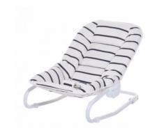 Childhome transat bébé 65 cm blanc/bleu foncé - Table et chaise