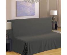 Homemaison.com hm69451659 housse de clic-clac à nouettes coton/polyester gris 200 x 140 cm - Fauteuils enfant