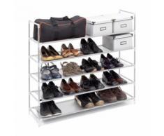 Étagère à chaussures - 20 paires de chaussures - Blanc - Meubles à chaussures