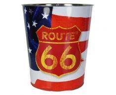 Poubelle de bureau en métal Route 66 - Corbeille, bac à courrier, poubelle