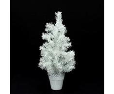 Sapin de noël petit modèle - 45 cm - Blanc - Objet à poser