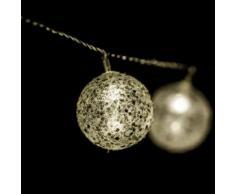 Guirlande lumineuse Noël - L. 135 cm - Boule paillette - Objet à poser