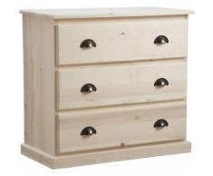 Aubry Gaspard - Commode 3 tiroirs en bois brut - Commodes et plans à langer