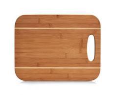 Zeller 25204 planche à découper, bambou 37,5 x 29 x 0,90 cm, naturel - Ustensiles
