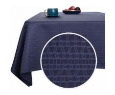 Deconovo Nappe Rectangulaire Imperméable à Motif Bleu Foncé 137x200 cm Nappe Table Salle à Manger Cuisine Salon Jardin - Linge de table