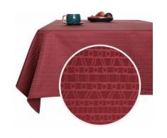 Deconovo Nappe Jardin Rectangulaire Imperméable à Motif Rouge Foncé 137x200 cm Nappe Table Salle à Manger Cuisine Salon Jardin - Linge de table