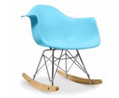 Myfaktory - Chaise enfant balance - polypropylène matt bleu clair - Chaise