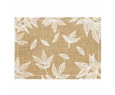 Set de table en toile de jute feuilles - Linge de table