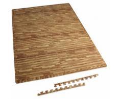 6 tapis de protection en mousse - épaisseur 1,2cm - 12 pièces d'about - Bois clair - Accessoires de musculation