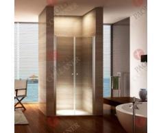 Porte de douche 195 cm largeur réglable 136-140 cm Transparent - Installations salles de bain