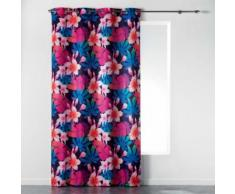 Rideau a oeillets 140 x 260 cm polyester imprime fun flowers Prune - Rideaux et stores