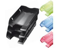 Corbeille à courrier A4 Greenlogic rouge transparent - Corbeille, bac à courrier, poubelle