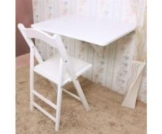 SoBuy® FWT01-W Table murale rabattables, Table de cuisine pliante, Table à rabat pour enfant pliable (L x P: 75cm x 60cm - 1 chambrière- Rectangulaire, Blanc) - Tables de cuisine