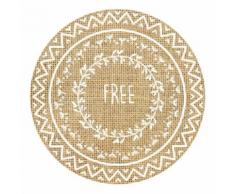 Set de table rond en toile de jute FREE - Linge de table