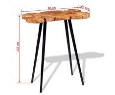 KKmoon Table de Bar en Bois Style Industriel pour Cuisine, Bar, Balcon 90 x 60 x 110 cm - Tables hautes