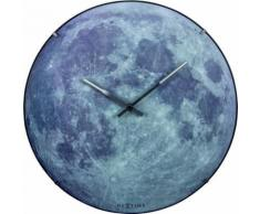 NeXtime NE-3164 Horloge murale Dia. 35 cm, globe terrestre, 'blue Moon Dome' - Décoration murale