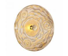 Applique murale design LUNA Or 24 Carats 1 ampoule Diamètre 89 Cm Champagne Aqua - Appliques et spots
