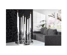 Chloé Design - Bougeoir design Luma - argent - Lampes