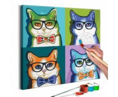 40x40 Tableau à peindre par soi-même Kits de peinture pour adultes Superbe même - Décoration murale