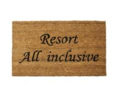 Humour Paillasson Essuie-Pieds - Resort All Inclusive, Retro Style (40x70 cm) - Tapis et paillasson