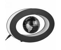 Globe Terrestre LED Levitation Magnétique 3 Lumineux Flottant Argent - Objet à poser