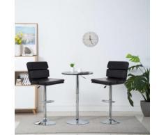 Meelady Tabourets de Bar Chaise de Bar Pivotante pour Maison, Bureau et Salon 2 pcs Similicuir 44 x 50 x 114 cm Noir - Chaise